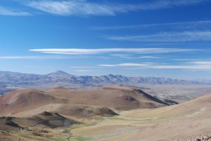 The Altiplano as viewed from the Abra El Acay (4,890 m altitude)
