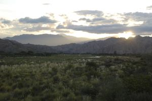 Late afternoon in the Calchaquí valley, province of Salta