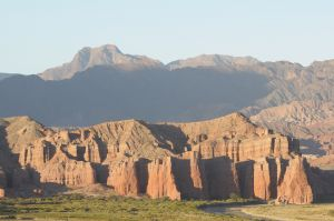 "The sedimentary rock formations known as ""Los Castillos"""