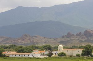 The town of Molinos, in the Calchaquí valley, province of Salta