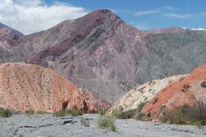 Rocks near the town of Purmamarca, province of Jujuy, Argentina