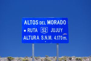 Highway sign, province of Jujuy