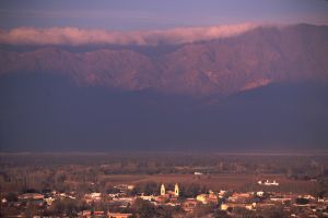 The town of Cafayate, Salta
